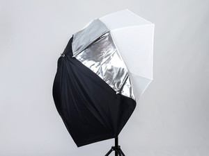 Parasolka fotograficzna Lastolite All In One silver / white 80 cm